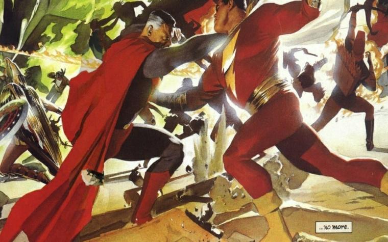 dc_comics_superman_alex_ross_shazam_wall